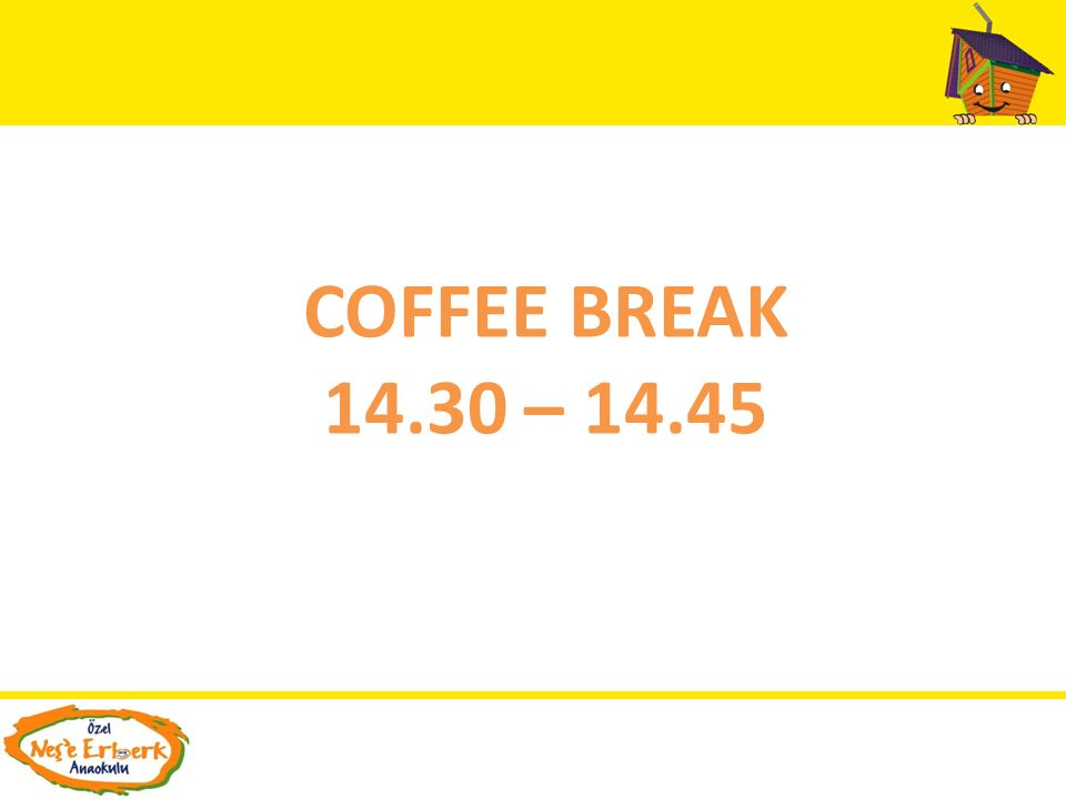 COFFEE BREAK 14.30 – 14.45