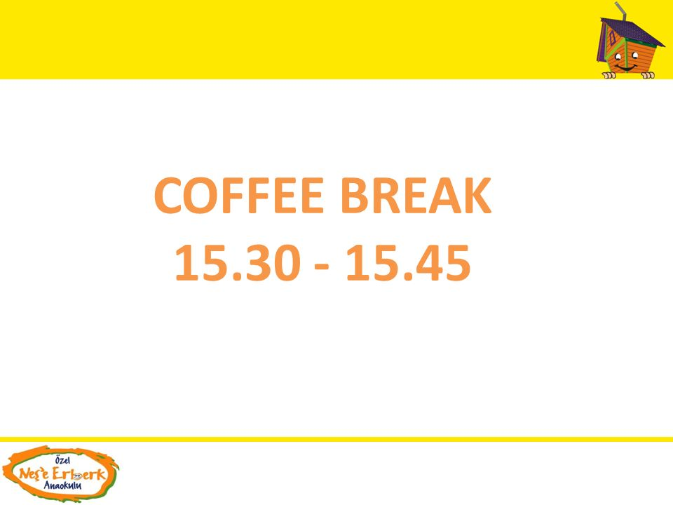 COFFEE BREAK 15.30 - 15.45