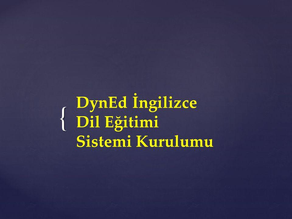 { DynEd İngilizce Dil Eğitimi Sistemi Kurulumu