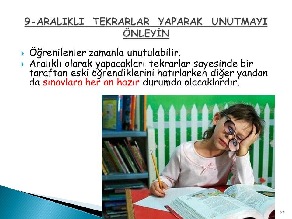  Öğrenmede hızlı okuma önemli ve gereklidir.  Hızlı okumanın en önemli yolu sessiz okumalıdır.