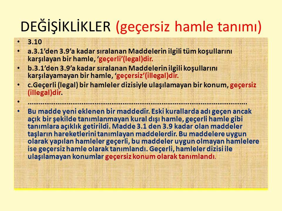 DEĞİŞİKLİKLER (5konum 75 ham-zaman kaybı) 6.2 a.