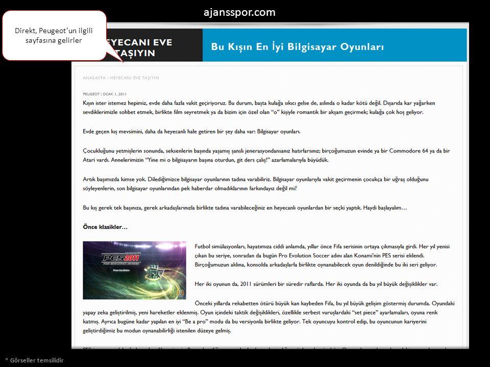 * Görseller temsilidir ajansspor.com Direkt, Peugeot'un ilgili sayfasına gelirler