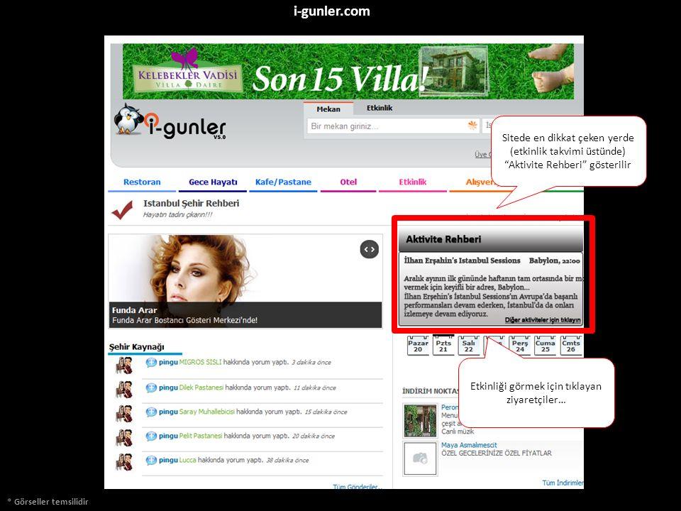 """* Görseller temsilidir i-gunler.com Sitede en dikkat çeken yerde (etkinlik takvimi üstünde) """"Aktivite Rehberi"""" gösterilir Etkinliği görmek için tıklay"""