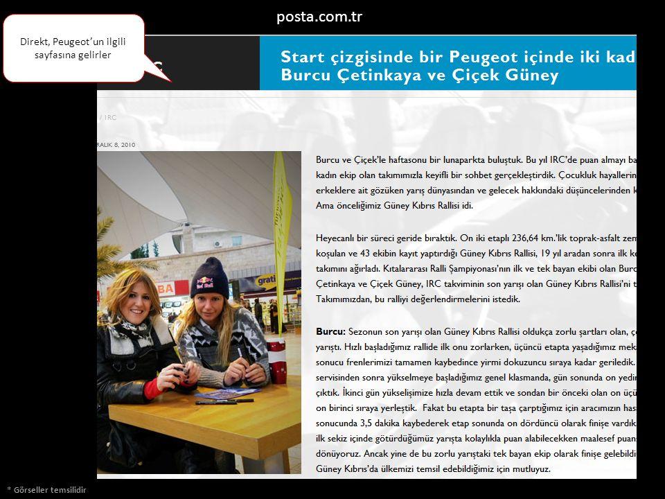 * Görseller temsilidir posta.com.tr Direkt, Peugeot'un ilgili sayfasına gelirler