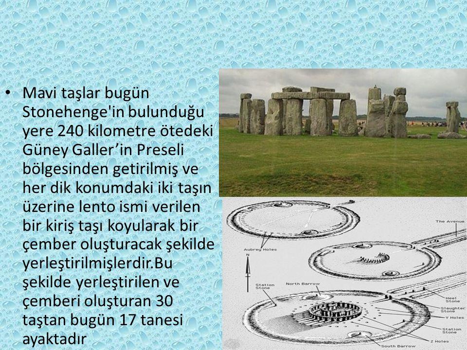 Stonehenge İngiltere'deki Salisbury Düzlüğü'nde yontulmuş ve daha sonra da düzgünleştirilmiş mavi taşlardan oluşan bir çemberdir.