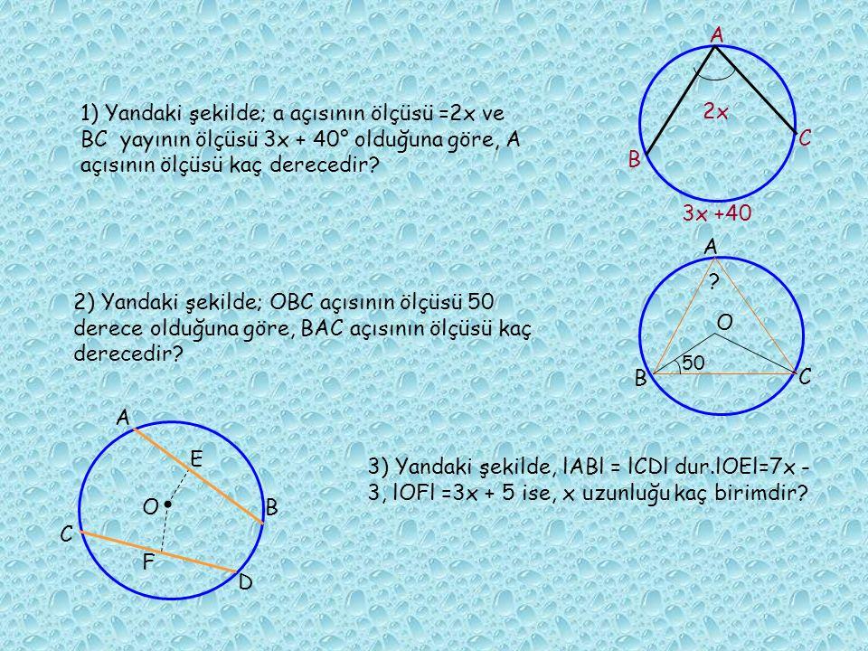 Soru5:Şekilde görülen doğrular çemberi 10 eşit parçaya bölmüştür.Buna göre x ve y açılarının ölçülerin toplamı kaçtır?