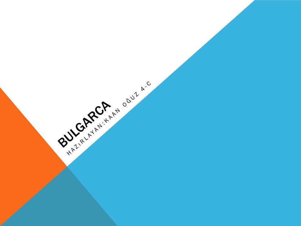 BULGARCA HAZıRLAYAN:KAAN OĞUZ 4-C