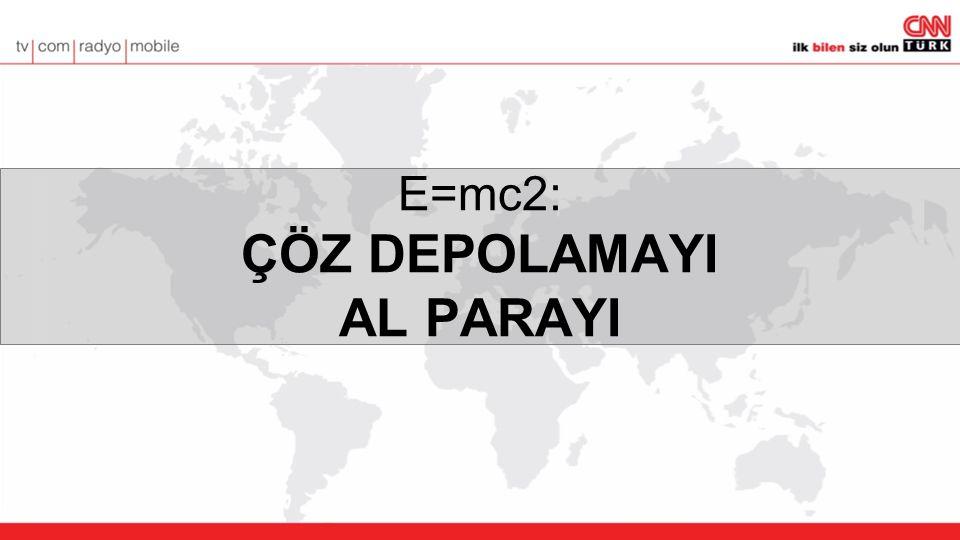 E=mc2: ÇÖZ DEPOLAMAYI AL PARAYI