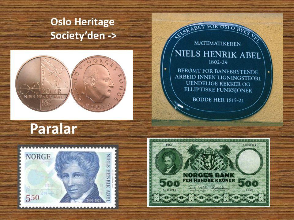 Paralar Oslo Heritage Society'den ->