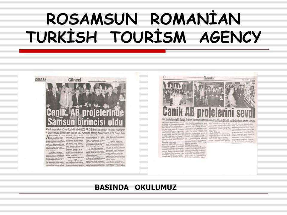 ROSAMSUN ROMANİAN TURKİSH TOURİSM AGENCY  8 MART 2012 Perşembe ekosistemle ilgili eğitimler sona erdi.