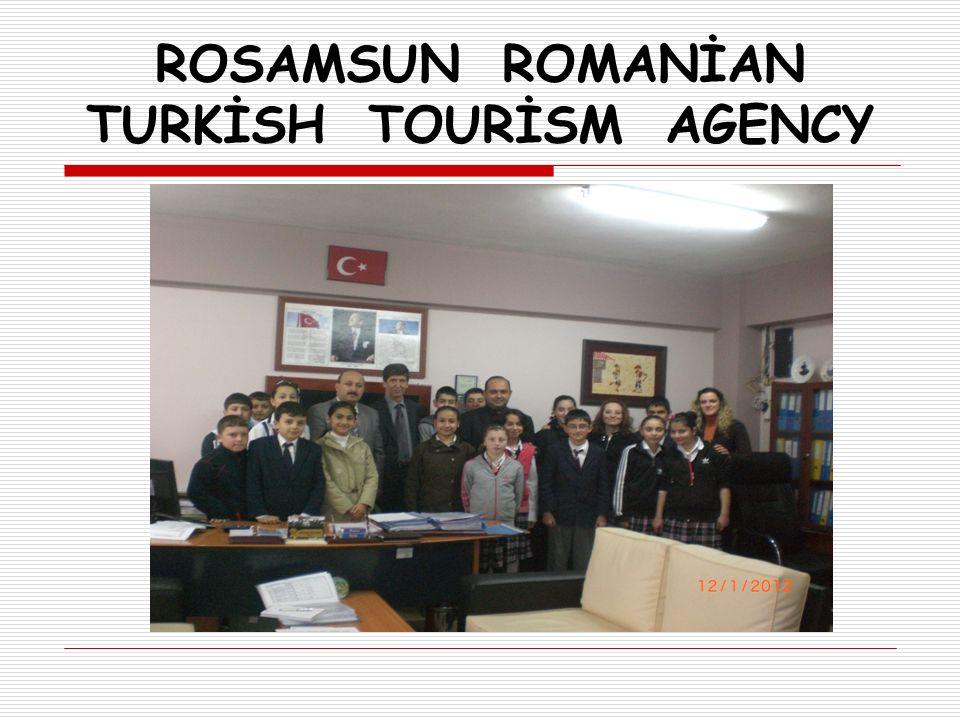 ROSAMSUN ROMANİAN TURKİSH TOURİSM AGENCY  7 Mart 2012 Cumartesi konuklarımız Samsun' a geldi.