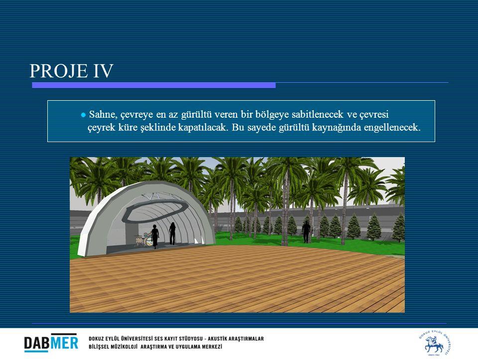 ● Sahne, çevreye en az gürültü veren bir bölgeye sabitlenecek ve çevresi çeyrek küre şeklinde kapatılacak. Bu sayede gürültü kaynağında engellenecek.