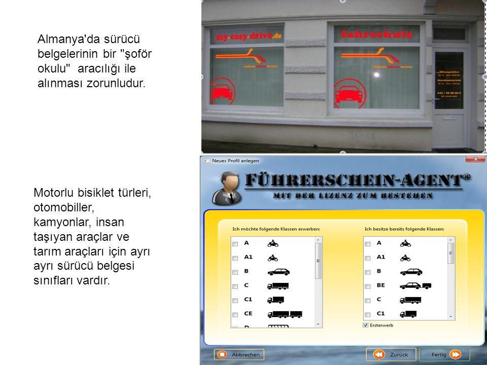 Yazılı sınavlar şoför okulunda yapılırlar.