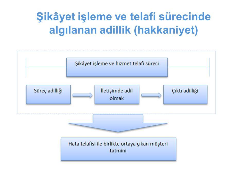 Şikâyet işleme ve telafi sürecinde algılanan adillik (hakkaniyet)