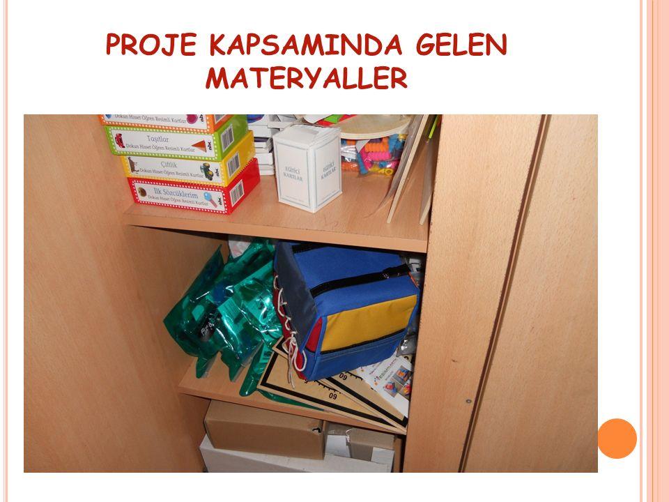 PROJE KAPSAMINDA GELEN MATERYALLER