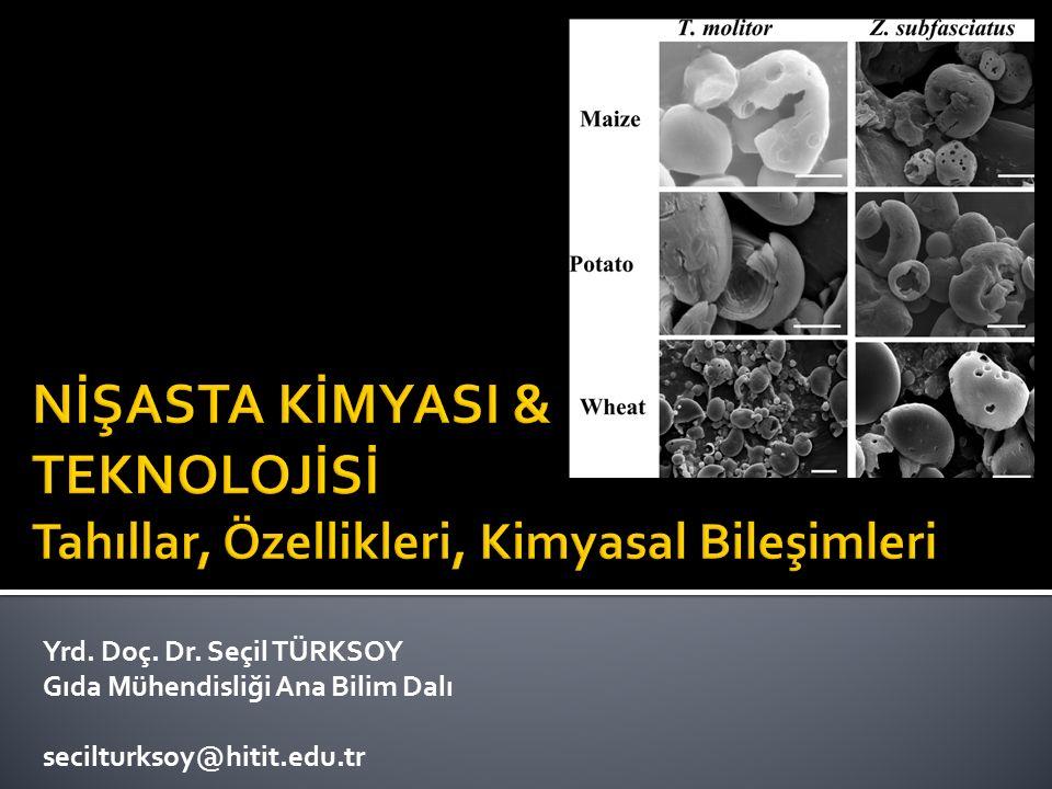 Yrd. Doç. Dr. Seçil TÜRKSOY Gıda Mühendisliği Ana Bilim Dalı secilturksoy@hitit.edu.tr