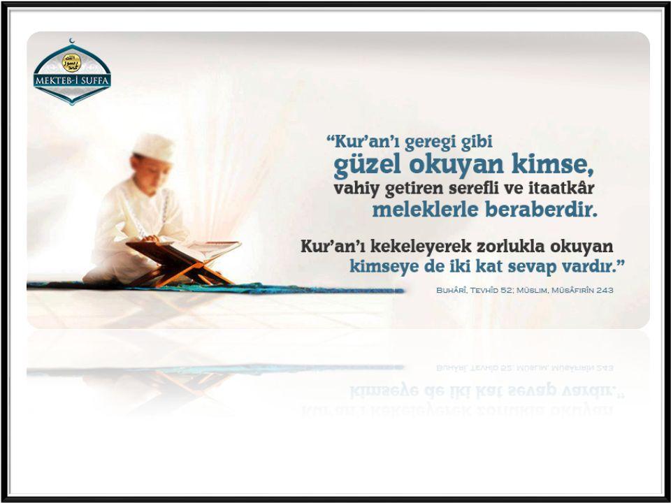 a) Kur'an'ın daha iyi anlaşılması için.