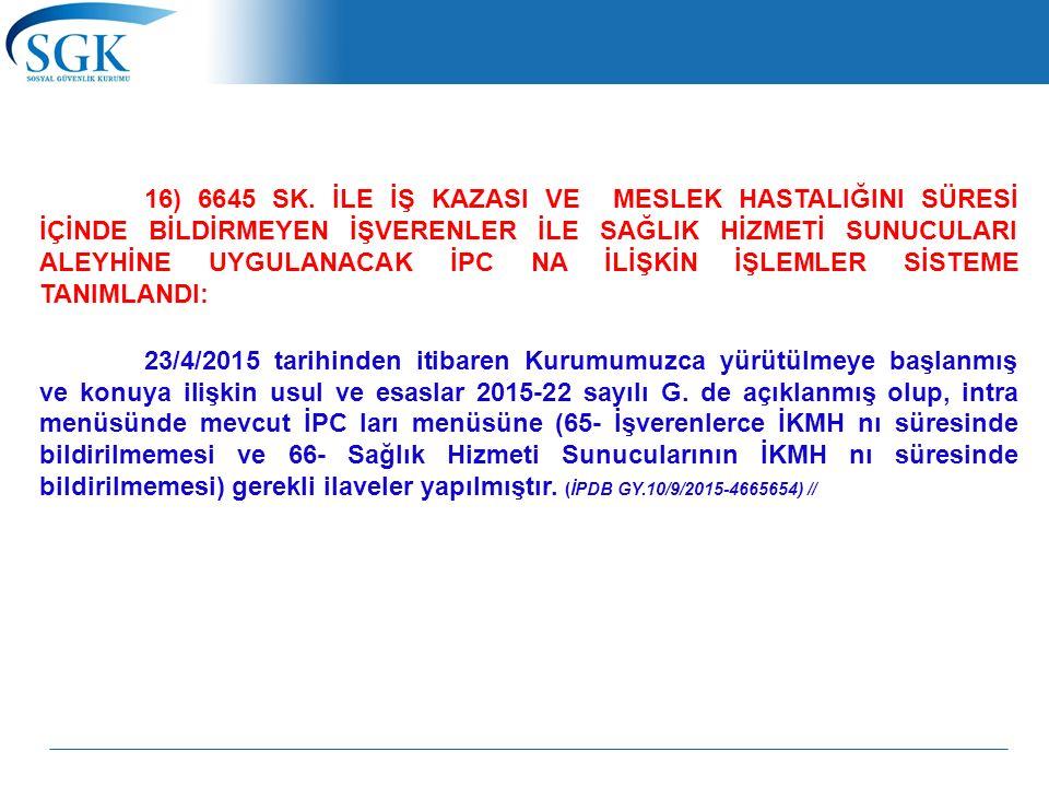 16) 6645 SK.