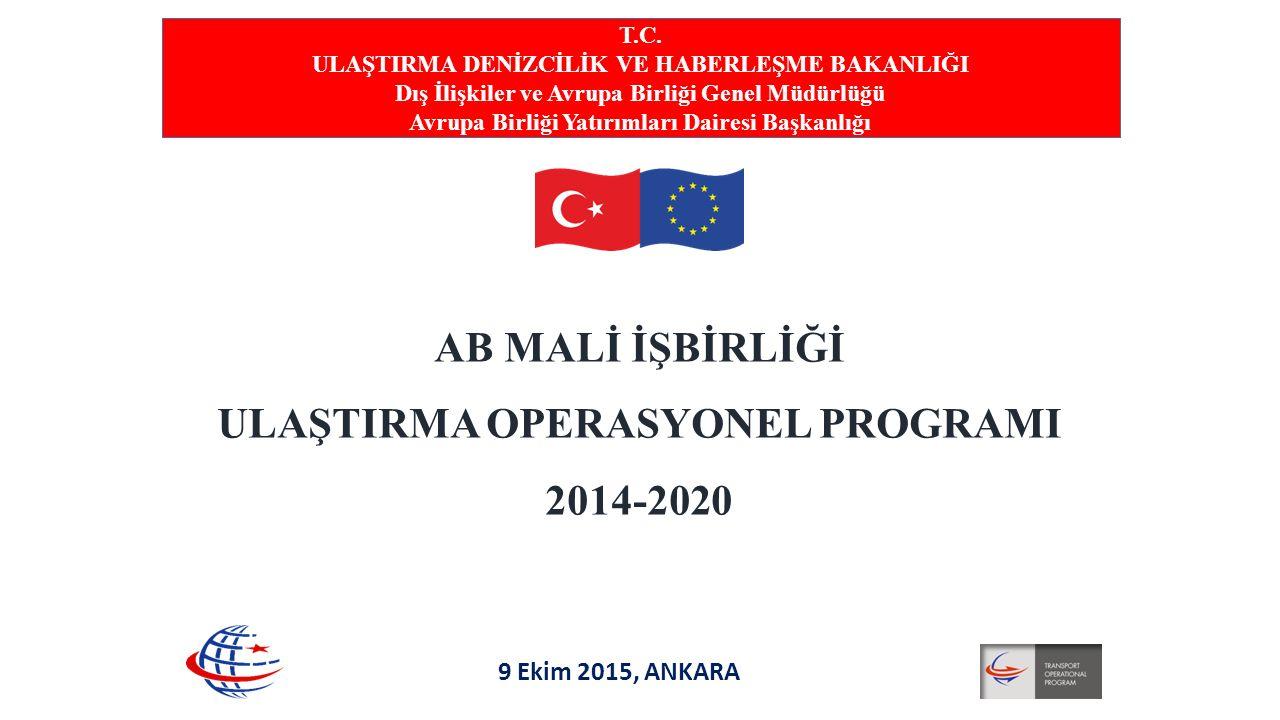AB MALİ İŞBİRLİĞİ ULAŞTIRMA OPERASYONEL PROGRAMI 2014-2020 T.C. ULAŞTIRMA DENİZCİLİK VE HABERLEŞME BAKANLIĞI Dış İlişkiler ve Avrupa Birliği Genel Müd