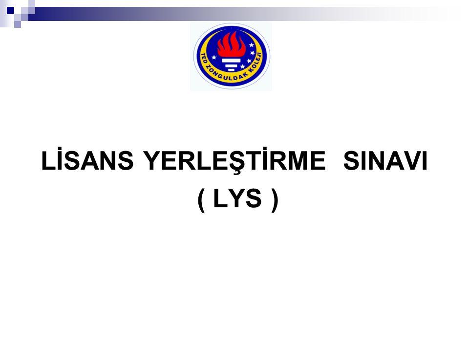 LİSANS YERLEŞTİRME SINAVI ( LYS )