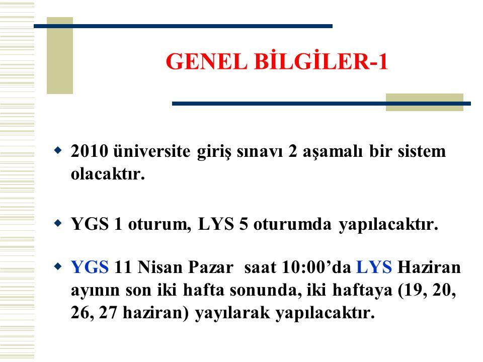  2010 üniversite giriş sınavı 2 aşamalı bir sistem olacaktır.