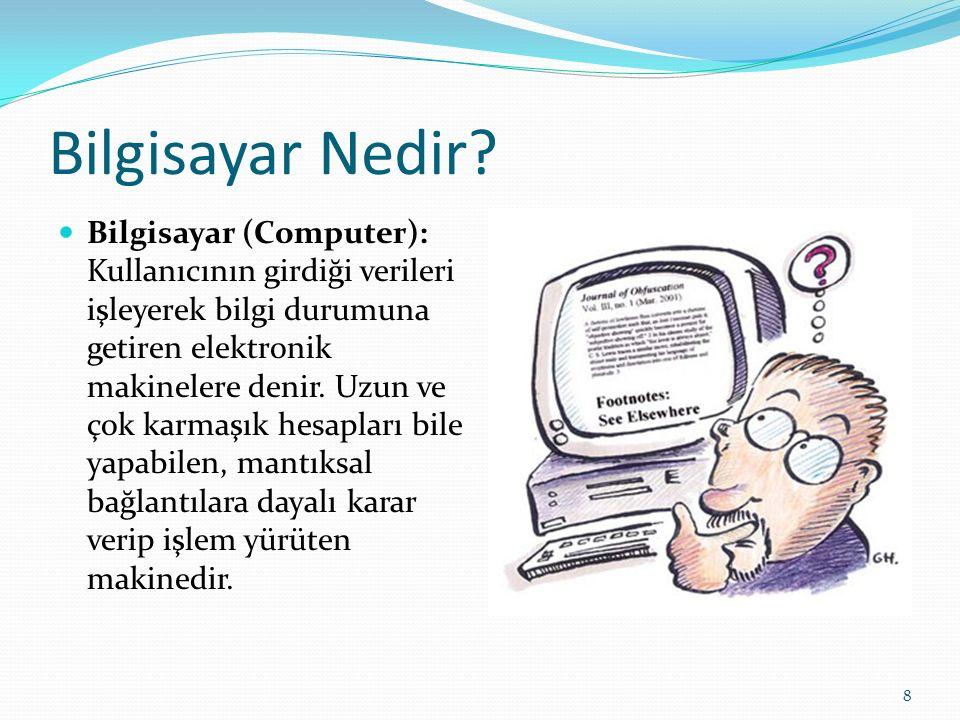 19 Mikroişlemci 1971 yılında, yarı iletken teknolojisinde önemli bir sıçrama daha gözlendi.Bu gelişme, bilgisayarın temel elemanı veya beyni olarak kabul edilen Merkezi İşlem Biriminin tek bir tüm devre içine sığdırılmasıdır.
