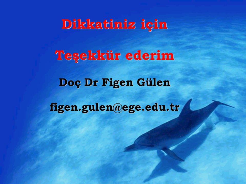 Dikkatiniz için Teşekkür ederim Doç Dr Figen Gülen figen.gulen@ege.edu.tr