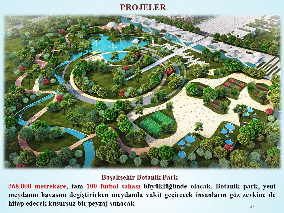 37 PROJELER 368.000 metrekare, tam 100 futbol sahası büyüklüğünde olacak. Botanik park, yeni meydanın havasını değiştirirken meydanda vakit geçirecek