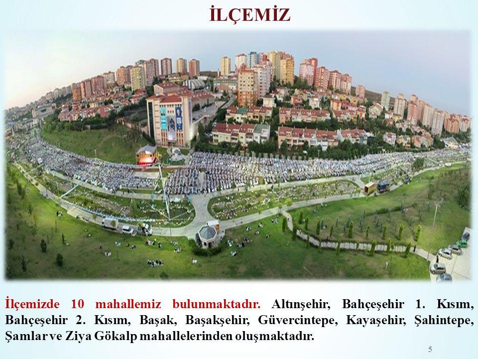 İLÇEMİZ İlçemizde 10 mahallemiz bulunmaktadır. Altınşehir, Bahçeşehir 1. Kısım, Bahçeşehir 2. Kısım, Başak, Başakşehir, Güvercintepe, Kayaşehir, Şahin