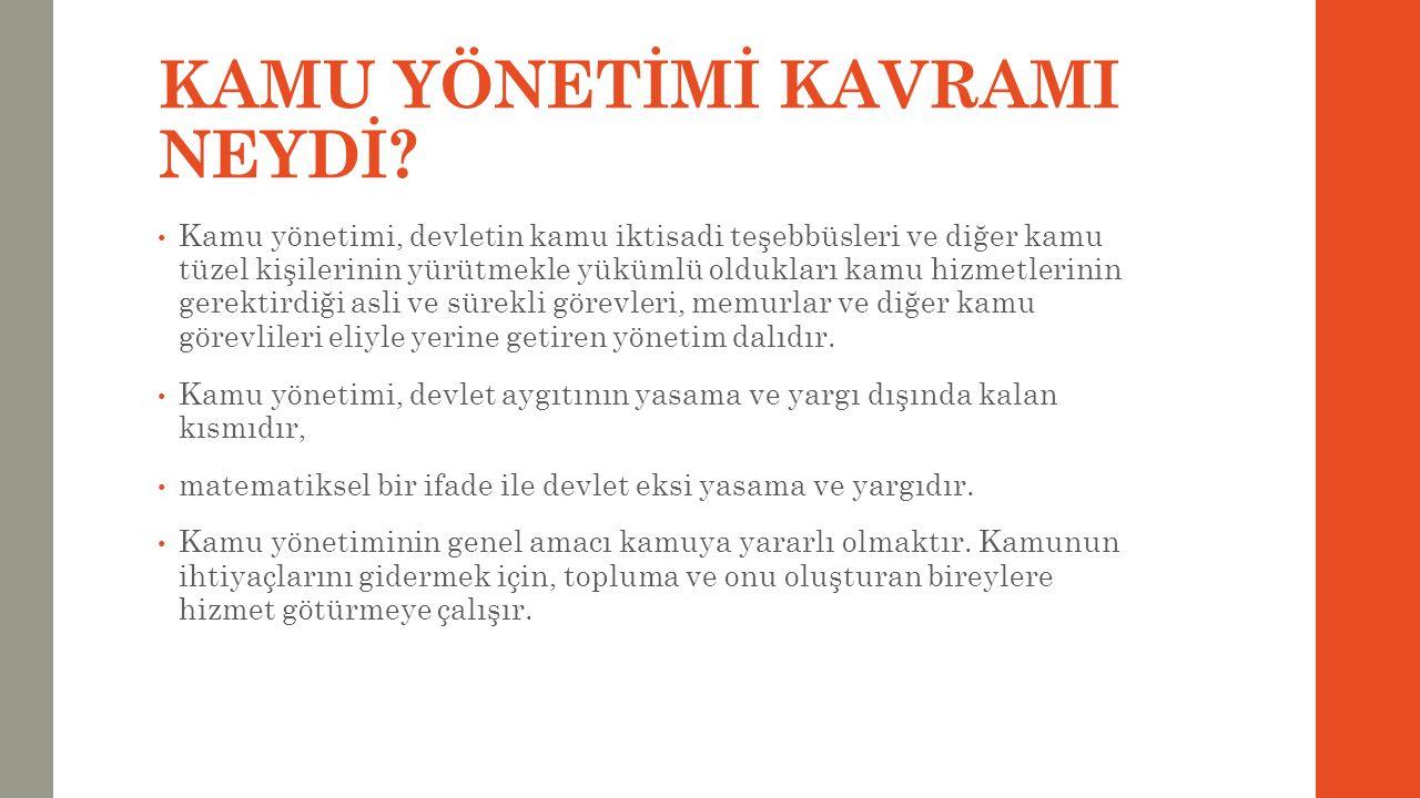 1960'lar… 1960'larda Türkiye'de yönetim anlayışı, planlama ve kalkınma kavramları ile birlikte ele alınmaya başlamıştır.