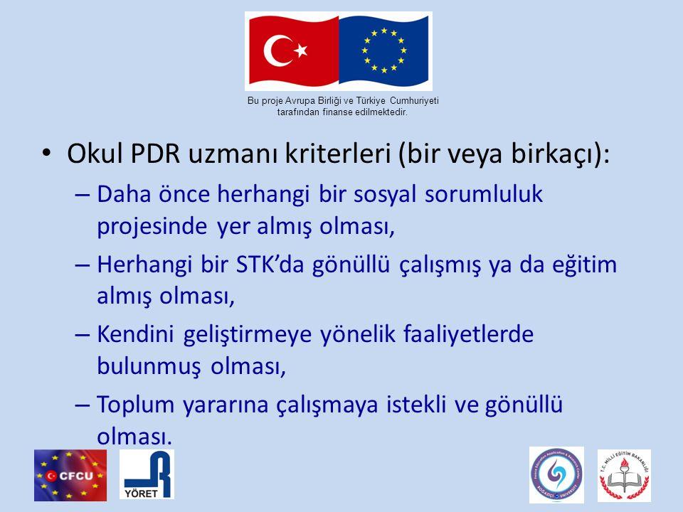 Bu proje Avrupa Birliği ve Türkiye Cumhuriyeti tarafından finanse edilmektedir.