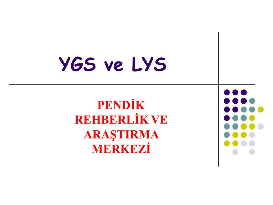 YGS ve LYS PENDİK REHBERLİK VE ARAŞTIRMA MERKEZİ