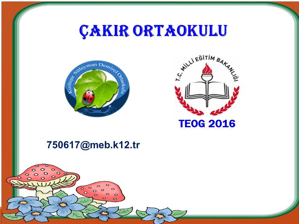 ÇAKIR ORTAOKULU 750617@meb.k12.tr