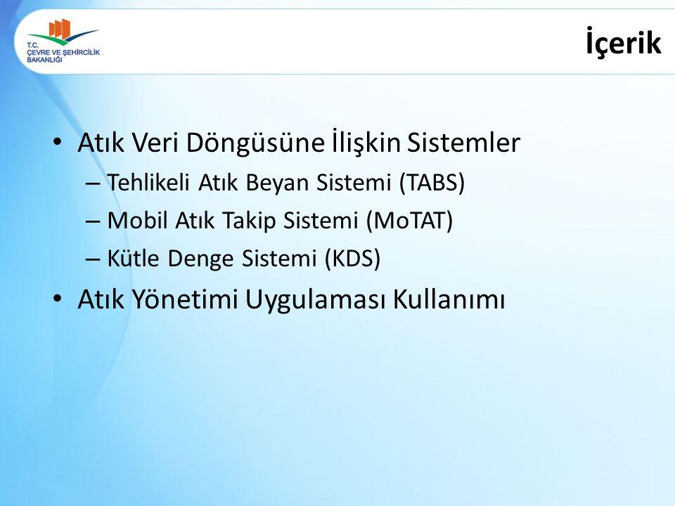 Kütle Denge Sistemi 26.06.2014 Genel Müdürlüğümüz web sayfasında yapılan duyuru ile geçici faaliyet belgesi / çevre lisansına sahip geri kazanım ve bertaraf tesislerinin kullanımına açılmıştır.