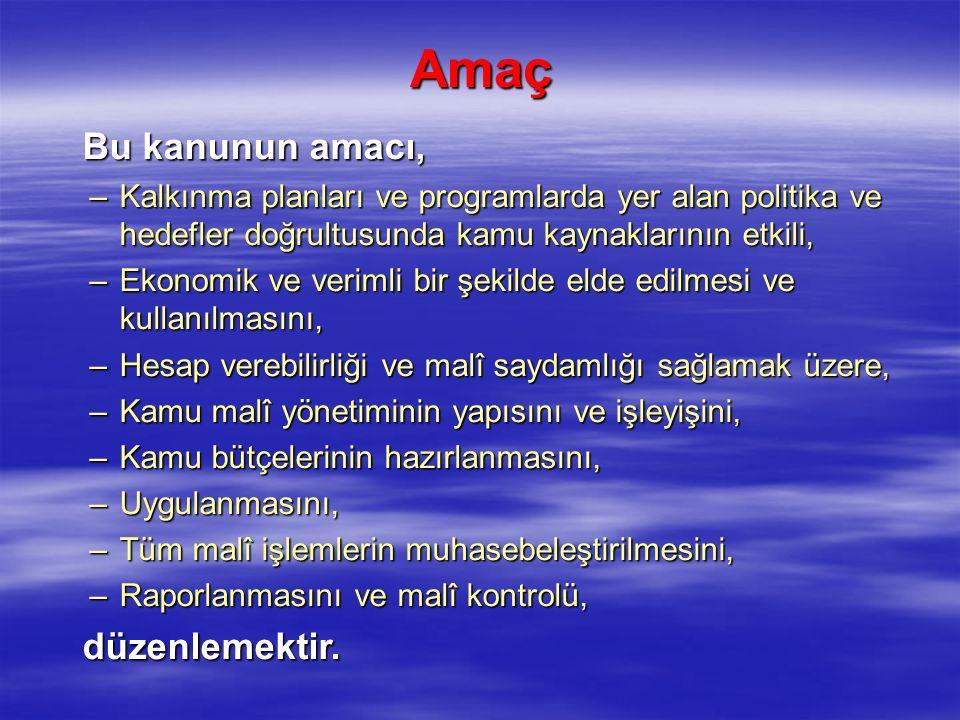  Bakanlar, kamu kaynaklarının etkili, ekonomik ve verimli kullanılması ile hukuki ve mali konularda Başbakana ve Türkiye Büyük Millet Meclisi'ne karşı sorumludurlar.