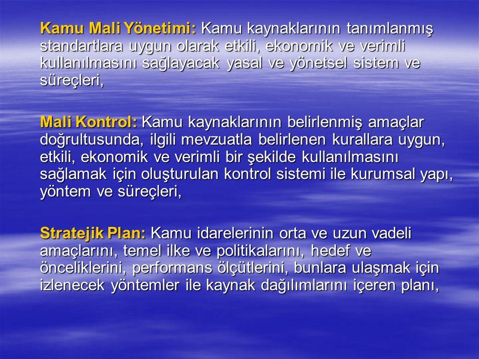 Mali İstatistiklerin Değerlendirilmesi  Bir yıla ait mali istatistikler izleyen yılın Mart ayı içinde; hazırlanma, hazırlanma, yayımlanma, yayımlanma, doğruluk, doğruluk, güvenilirlik ve güvenilirlik ve önceden belirlenmiş standartlara uygunluk önceden belirlenmiş standartlara uygunluk bakımından Sayıştay tarafından değerlendirilir ve bu amaçla düzenlenen değerlendirme raporu Türkiye Büyük Millet Meclisine ve Maliye Bakanlığına gönderilir.