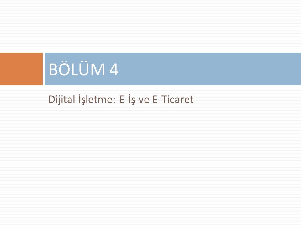 Dijital İşletme: E-İş ve E-Ticaret BÖLÜM 4