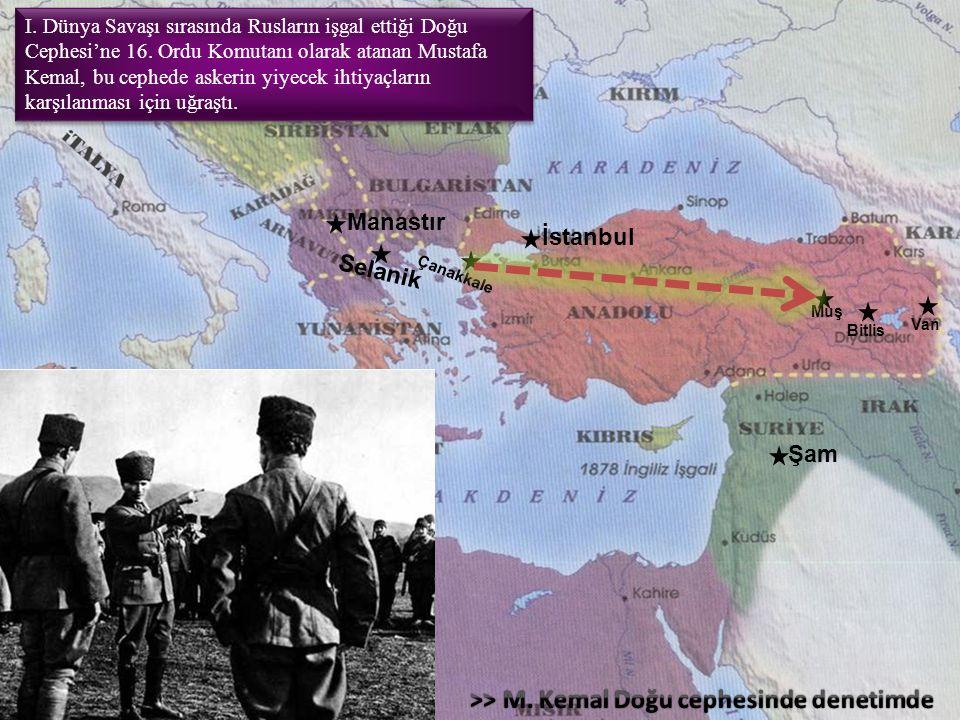 Atatürkün savaştığı cepheler; Conkbayırı, Anafartalar, Kireçtepe, Arıburnu, Sedülbahr CAKAS