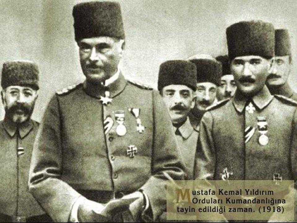 Muş Bitlis Çanakkale Şam Manastır Selanik İstanbul Mustafa Kemal, Osmanlı'nın I. Dünya Savaşı'ndan çekilmesi ile İstanbul'a geri dönmüştür. Suriye Cep