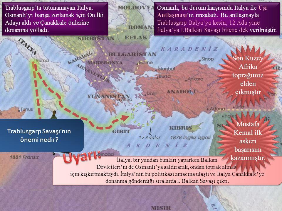 Trablusgarp'ın İtalya'nın olmasını istemeyen Mustafa Kemal ve beraberindeki Osmanlı gönüllüleri kılık değiştirdiler. Mısır'daki İngilizlere adlarını d