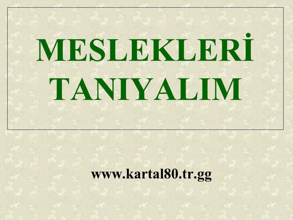 MESLEKLERİ TANIYALIM www.kartal80.tr.gg