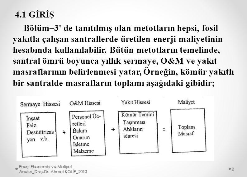 Enerji Ekonomisi ve Maliyet Analizi_Doç.Dr. Ahmet KOLİP_2013 13