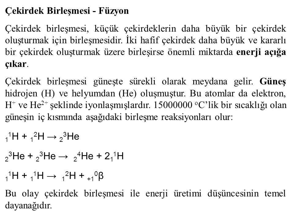 Çekirdek Birleşmesi - Füzyon Çekirdek birleşmesi, küçük çekirdeklerin daha büyük bir çekirdek oluşturmak için birleşmesidir.