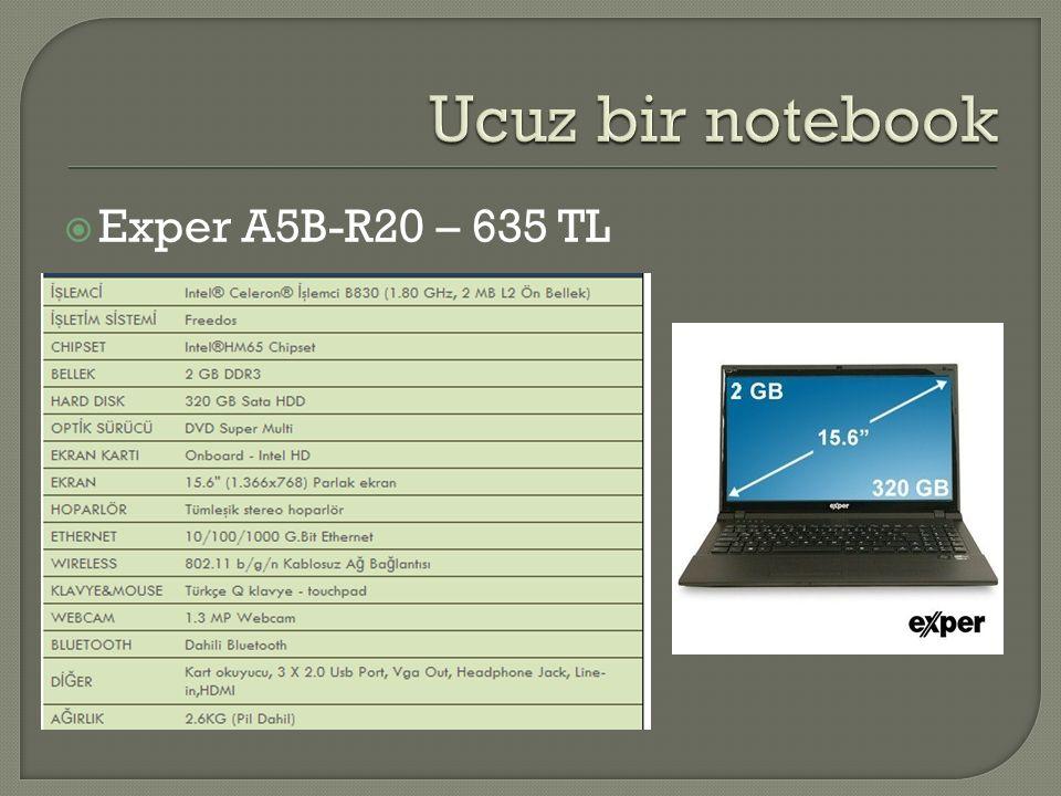  Exper A5B-R20 – 635 TL