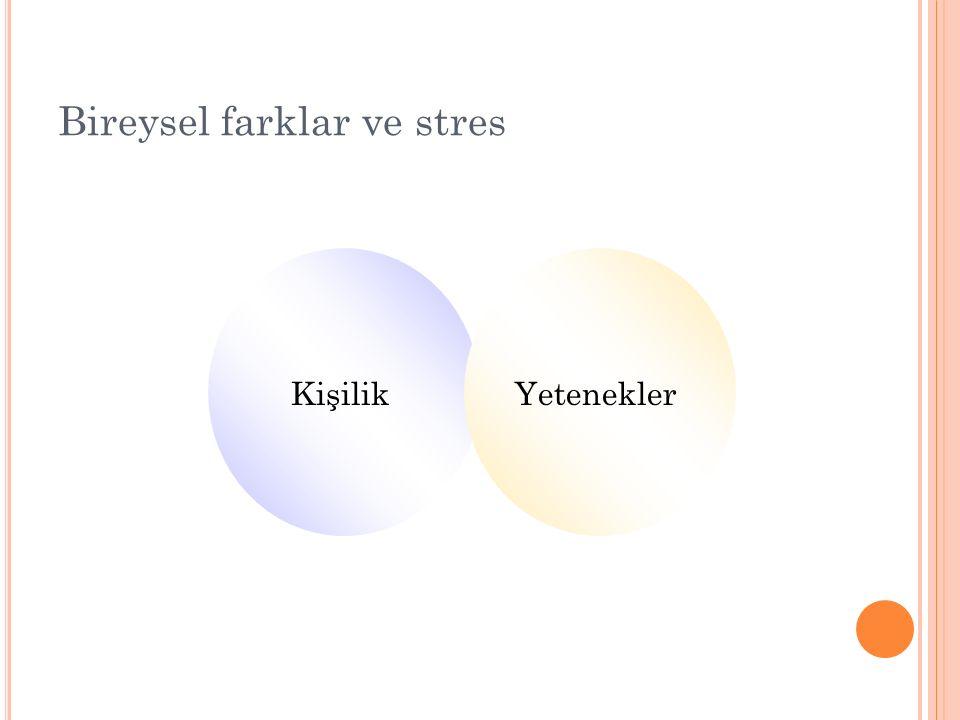 Bireysel farklar ve stres KişilikYetenekler