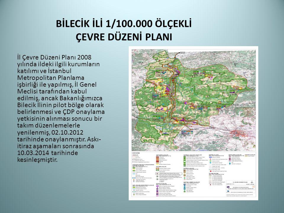 BİLECİK İLİ 1/100.000 ÖLÇEKLİ ÇEVRE DÜZENİ PLANI İl Çevre Düzeni Planı 2008 yılında ildeki ilgili kurumların katılımı ve İstanbul Metropolitan Planlam
