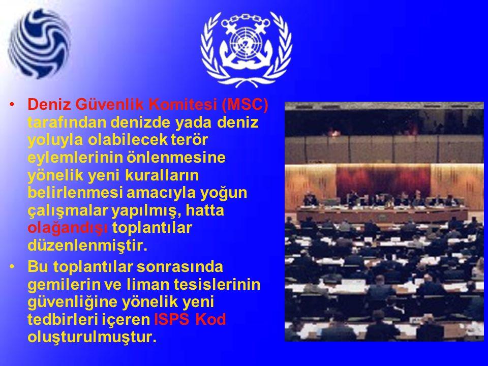 GEMİLERİN GÜVENLİĞİ 1 TEMMUZ 2004 TARİHİNE KADAR GEMİLERCE SOLAS 74 BÖLÜM-5, 11-1, 11-2 İLE ISPS KOD KAPSAMINDA YAPILMASI GEREKENLER