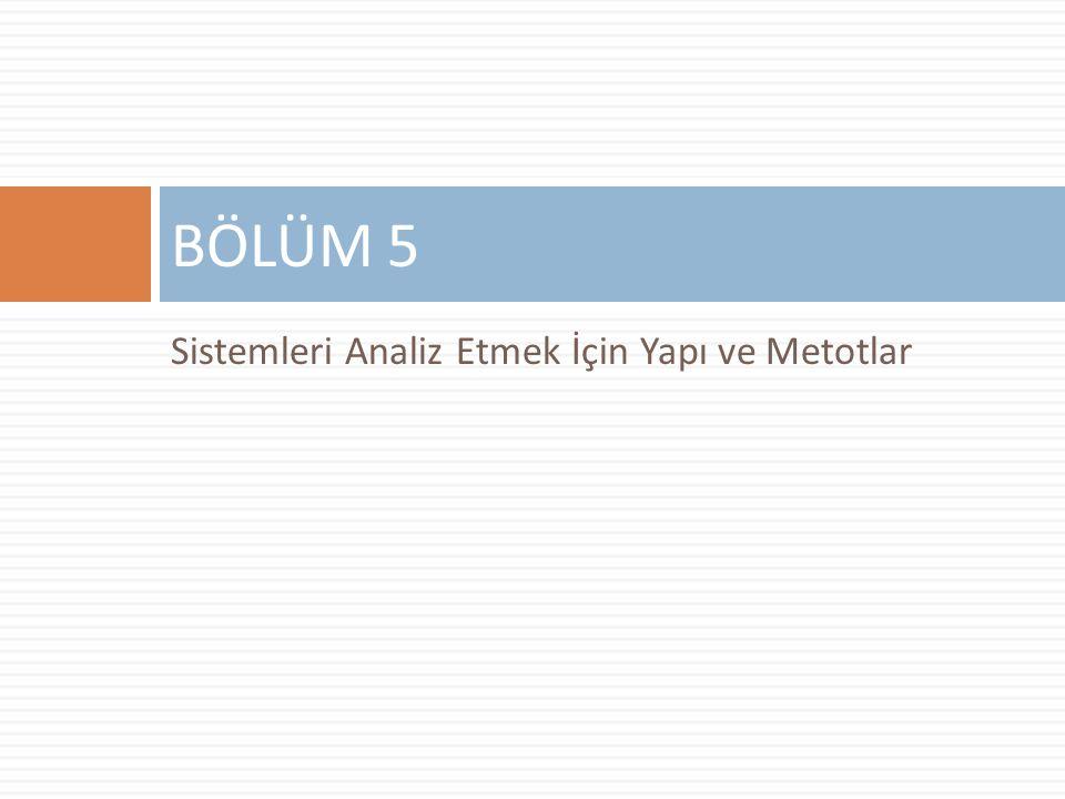 Sistemleri Analiz Etmek İçin Yapı ve Metotlar BÖLÜM 5