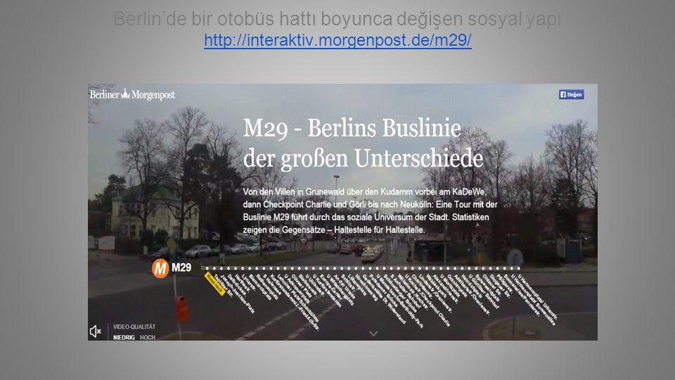 Berlin'de bir otobüs hattı boyunca değişen sosyal yapı http://interaktiv.morgenpost.de/m29/