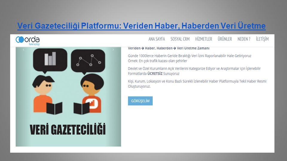 Veri Gazeteciliği Platformu: Veriden Haber, Haberden Veri Üretme